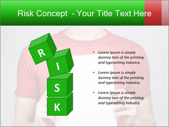 Man in a red shirt PowerPoint Template - Slide 81