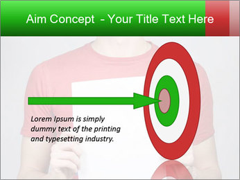 Man in a red shirt PowerPoint Template - Slide 83