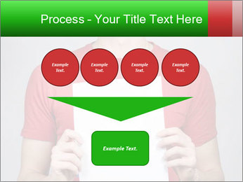 Man in a red shirt PowerPoint Template - Slide 93