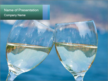 Two wineglasses PowerPoint Template - Slide 1