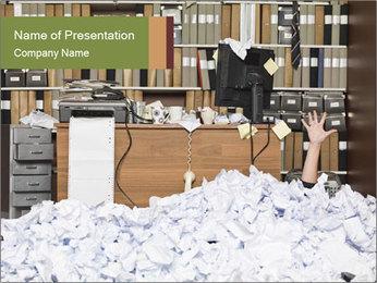 Businesswoman PowerPoint Template - Slide 1