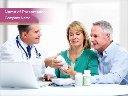 Smiling medical doctor PowerPoint Template
