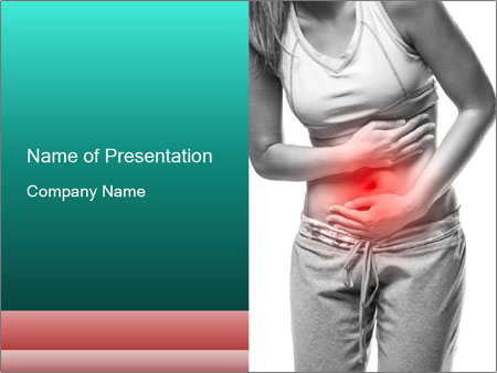 Woman with pain PowerPoint Template
