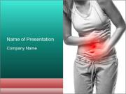 Woman with pain PowerPoint Templates