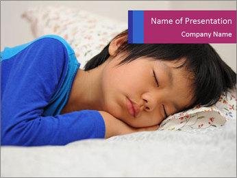 Boy sleeping PowerPoint Template - Slide 1