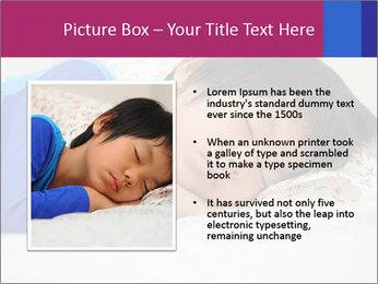 Boy sleeping PowerPoint Template - Slide 13