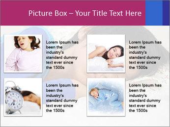 Boy sleeping PowerPoint Template - Slide 14