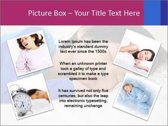 Boy sleeping PowerPoint Template - Slide 24