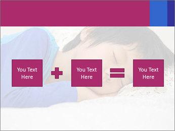 Boy sleeping PowerPoint Template - Slide 95