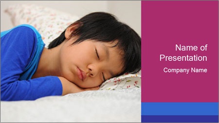 Boy sleeping PowerPoint Template