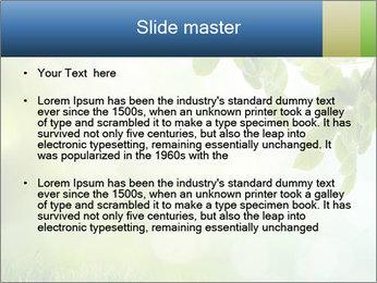 Natural green focus PowerPoint Template - Slide 2