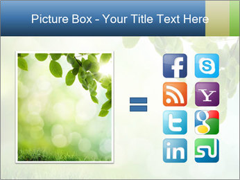 Natural green focus PowerPoint Template - Slide 21