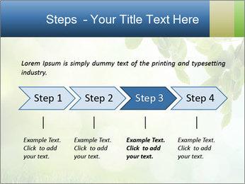 Natural green focus PowerPoint Template - Slide 4