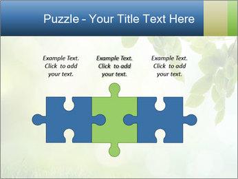 Natural green focus PowerPoint Template - Slide 42