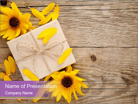 Ornamental sunflowers PowerPoint Template