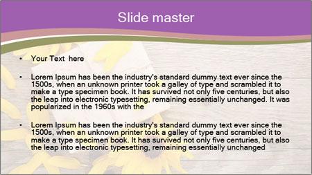 Ornamental sunflowers PowerPoint Template - Slide 2