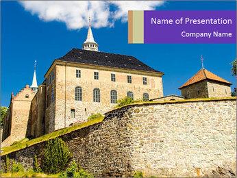 Akershus Fortress PowerPoint Template - Slide 1
