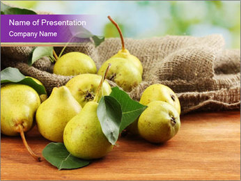 Juicy flavorful pears PowerPoint Template - Slide 1