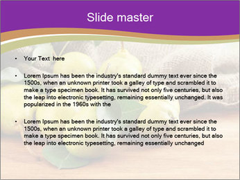 Juicy flavorful pears PowerPoint Template - Slide 2
