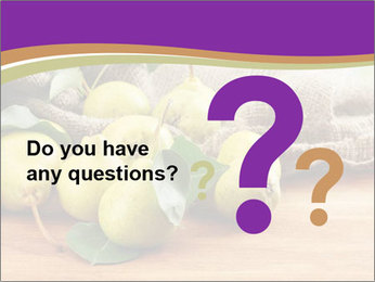 Juicy flavorful pears PowerPoint Template - Slide 96