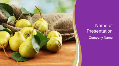 Juicy flavorful pears PowerPoint Template - Slide 1