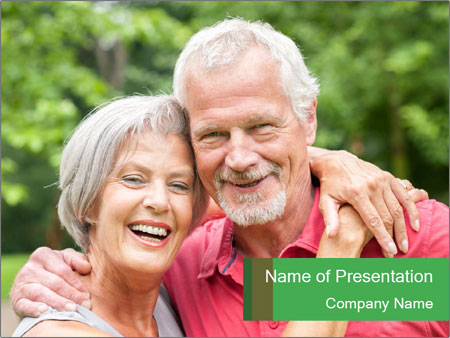 Senior couple in love PowerPoint Template