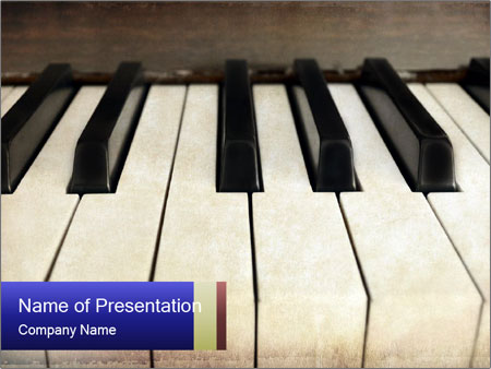 Piano keyboard PowerPoint Template