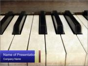 Piano keyboard PowerPoint Templates