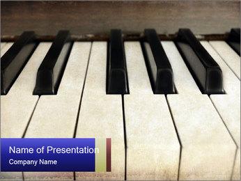 Piano keyboard PowerPoint Templates - Slide 1