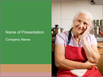 Smiling senior woman PowerPoint Template - Slide 1
