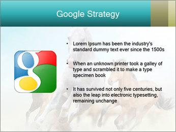 Horses in dust PowerPoint Template - Slide 10