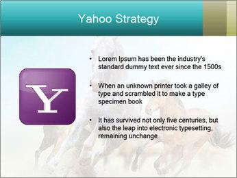 Horses in dust PowerPoint Template - Slide 11