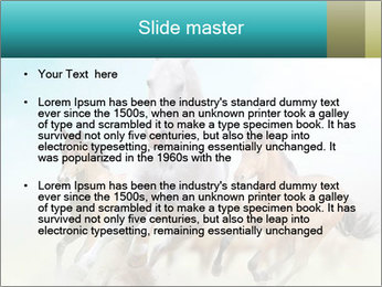 Horses in dust PowerPoint Template - Slide 2
