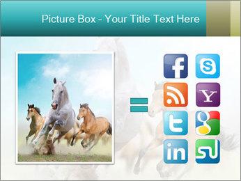 Horses in dust PowerPoint Template - Slide 21