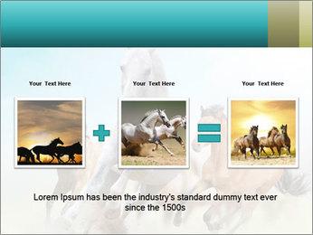 Horses in dust PowerPoint Template - Slide 22