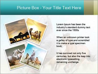 Horses in dust PowerPoint Template - Slide 23