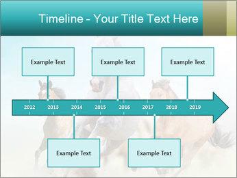 Horses in dust PowerPoint Template - Slide 28
