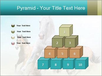 Horses in dust PowerPoint Template - Slide 31