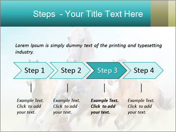 Horses in dust PowerPoint Template - Slide 4