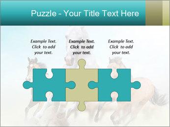Horses in dust PowerPoint Template - Slide 42