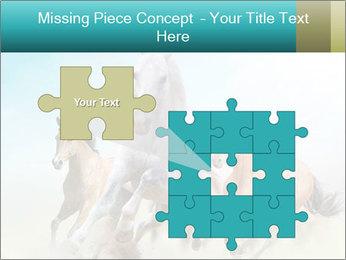 Horses in dust PowerPoint Template - Slide 45