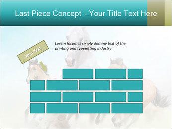 Horses in dust PowerPoint Template - Slide 46