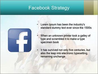 Horses in dust PowerPoint Template - Slide 6