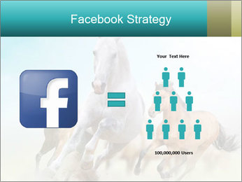 Horses in dust PowerPoint Template - Slide 7