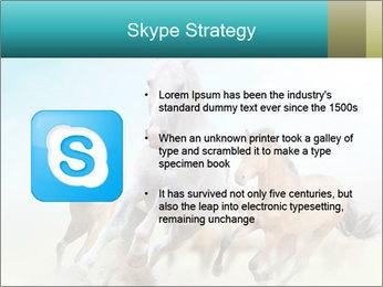 Horses in dust PowerPoint Template - Slide 8