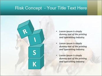Horses in dust PowerPoint Template - Slide 81