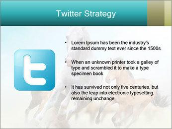 Horses in dust PowerPoint Template - Slide 9