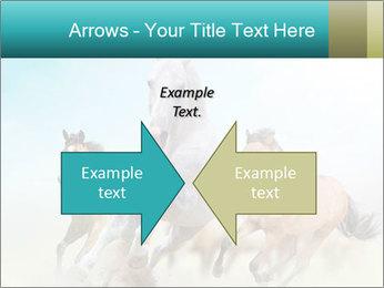 Horses in dust PowerPoint Template - Slide 90