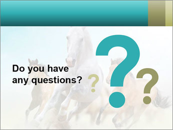 Horses in dust PowerPoint Template - Slide 96