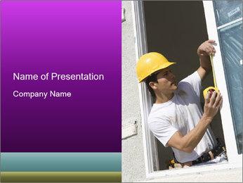 Male taking PowerPoint Template - Slide 1